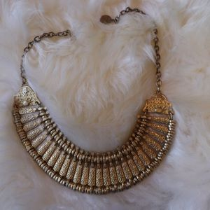 UO brass bib style necklace